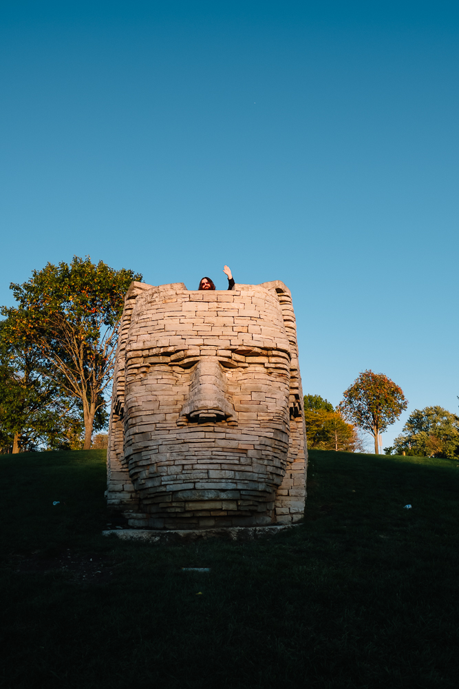 The Sphinx-Like Monument to Native American Chief Leatherlips   Thought & Sight